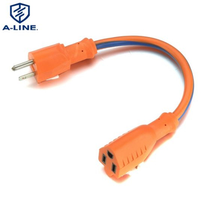 Us Standard 16A 3 Prong Heavy Duty Orange Extension Cord Manufacture