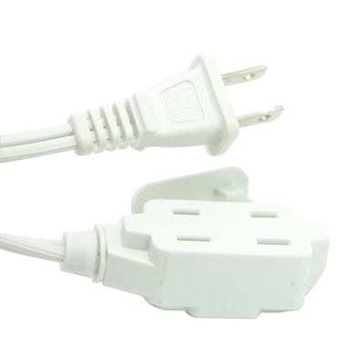 Us Standard NEMA 1-15p 2 Pins Power Extension Cord
