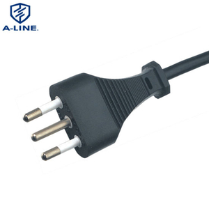 PVC Insulated 3 Pin Italy Standard Extension AC Power Cord