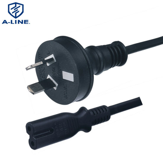 SAA Approved 2 Pin 2.5A Australian Power Extension Cord Factory