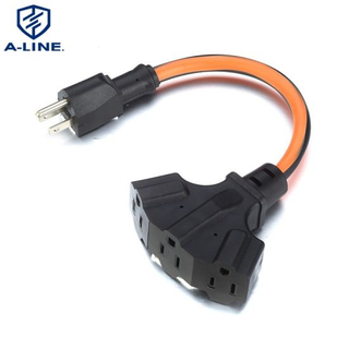 Us Standard 3-Outlet 13A 125V AC Power Extension Cord