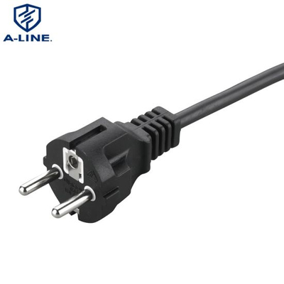 VDE Approval European 3 Pins Straight Power Extension Cord
